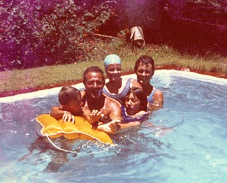 The Family with Vivienne Frank (with cap) -