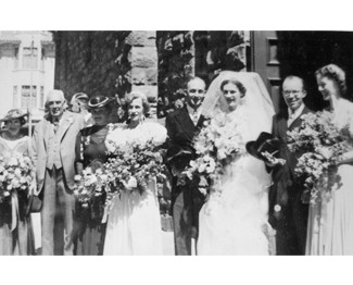 Rita and John on their Wedding Day -