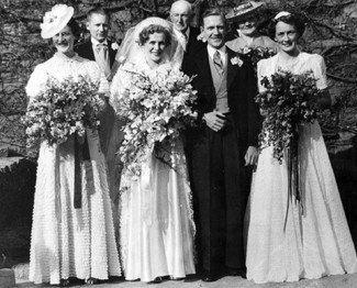 Edna and Harold on their Wedding Day -