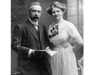 Arthur and Elizabeth on their Wedding Day -