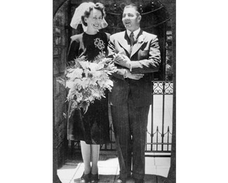 Joyce and Harry on their Wedding Day -